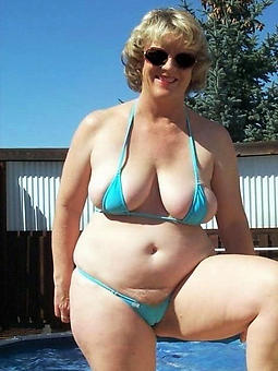 old lady in bikini