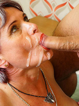 mature deepthroat cumshot strip