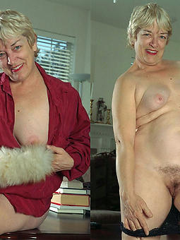 horny matures dressed added to nude glum pics