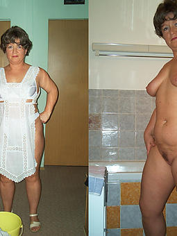 matures dressed together with undressed strip