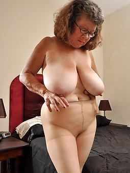 older ladies in pantyhose tease