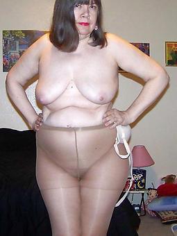 X-rated gentlefolk wearing pantyhose strip