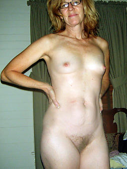 naked mature with laconic confidential strip