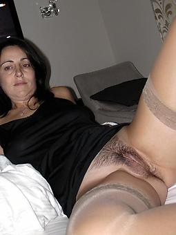 grown-up mom in stockings