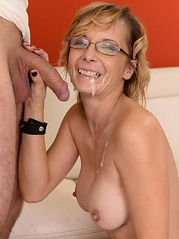 downright mature old lady cumshot