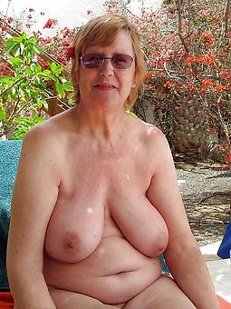hot grandma nude displaying their way pussy